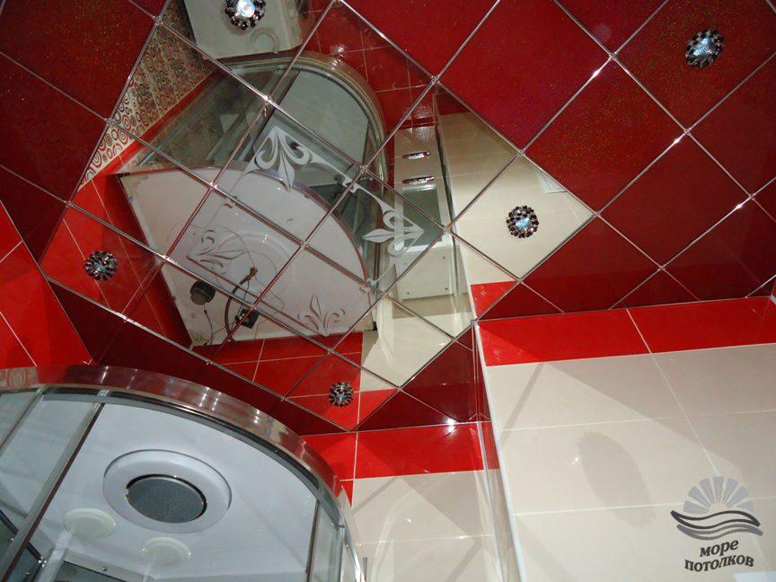 Зеркальная плитка для потолка купить на маркете
