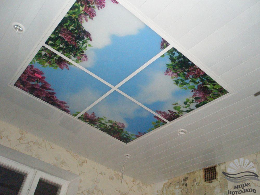 Фотопечать на натяжные потолки ангелочки стекло